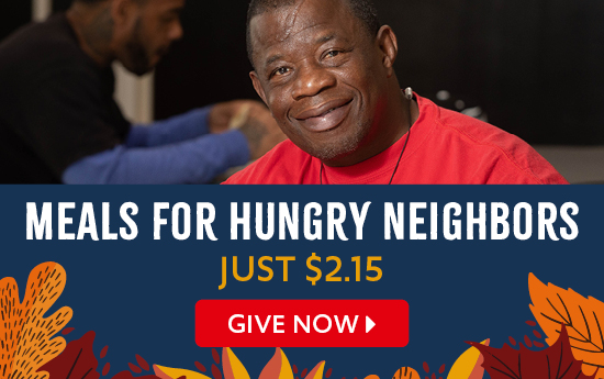 Meals for hungry neighbors just $2.15